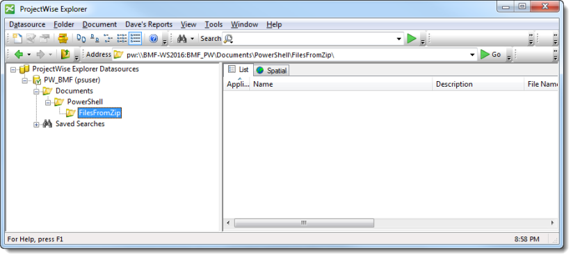 How To: Import Documents from a Zip File into ProjectWise Using
