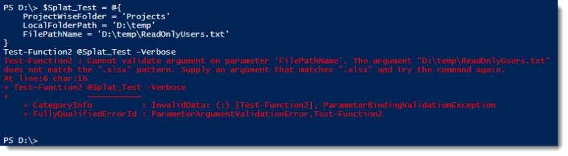 function2 patternerror